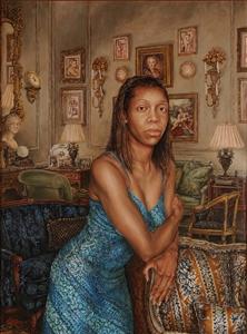 "Mrs. Deon Adams Oil on Linen 48"" x 36"""