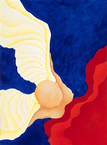 """ANGEL WITH RED CLOUD TWO Acrylic on Canvas 30"""" x 22"""""""