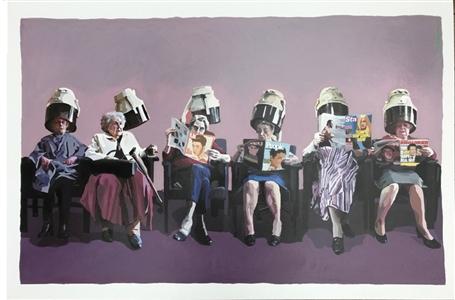 "Rollergirls Oil on Canvas 30"" x 45"""