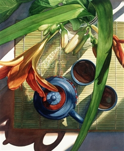 Blue Clay, Orange Lilies