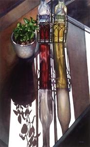 """Cruets Watercolor on Paper 24"""" x 14.5"""""""