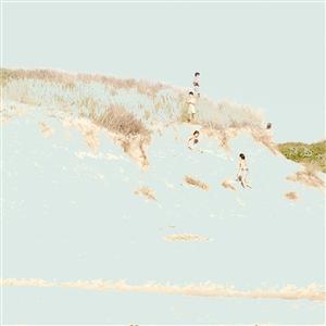 """Childhood, flight towards an eternal present. Digital photograph painted on Fine Art Paper 20"""" x 20"""""""