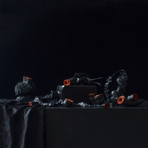 Still Life in Black with Peppers / second variation