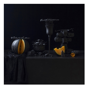 Still Life in Black with Melons / second variation