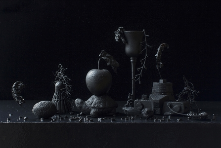 """Still Life in Black and Wet / second variation Archival Pigment Print 20"""" x 20"""" <span style='color:red;'>Sold</span>"""