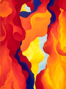 """CAVE ENERGIES Acrylic on Canvas 40"""" x 30"""""""