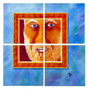 """WHERE AM I? Acrylic on Canvas 42"""" x 42"""""""