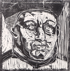 Leo X., from the cylce of 28 Faces of the Reformation