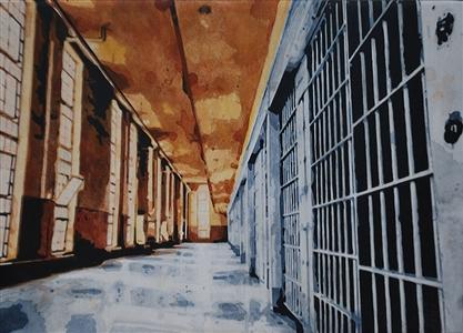 """Cell Acrylic on Canvas 20"""" x 27.5"""" x 1.18"""""""