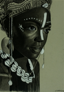 """Beyond the Beauty Charcoal on Paper 24"""" x 18"""""""