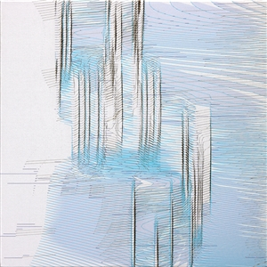 "Quakes 19A 02 Pigment print/burnt canvas on Canvas 20"" x 20"""