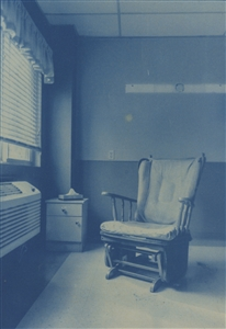 """Window View Cyanotype on Hot Press Water Color Paper 12"""" x 9"""""""