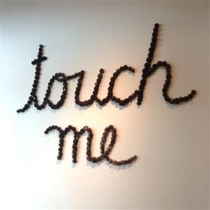 """Touch Me artist's hair 66"""" x 72"""" x 2"""""""