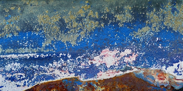 Across The Ocean For A Better Life - Impression of a rusted boat hull