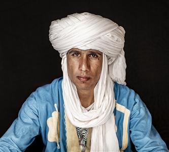 "Moroccan Touareg Man in Sahara Desert, Morocco Digital on Hahnemühle Paper 20"" x 30"""