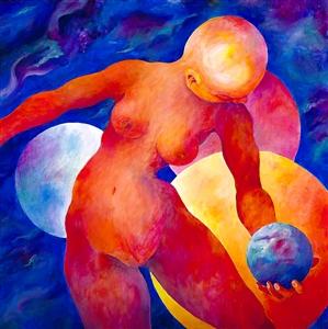 """ORIAH Acrylic on Canvas 40"""" x 40"""""""