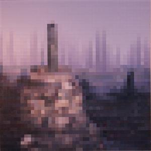"Borobudur Sunrise Acrylic on Canvas 22"" x 22"""