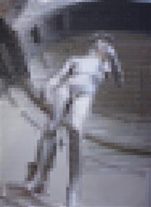 "Glimpse of David Acrylic on Canvas 66"" x 48"""
