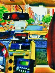 NYC Cab Inside Out