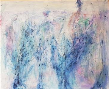 "Isles 19-01 Acrylic on Canvas 28.62"" x 35.79"""
