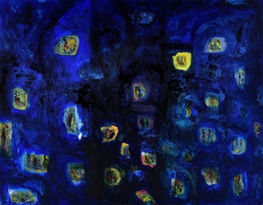 "apartment isles  (city isles) Acrylic on Canvas 35.83"" x 45.98"""