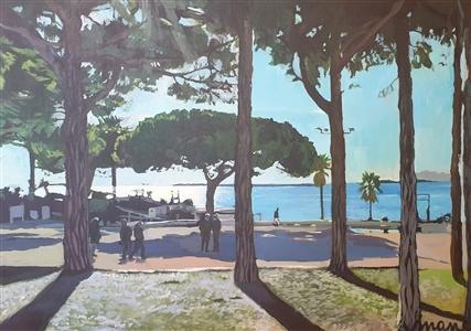 """La Pinéde de Juan Les Pins Acrylic on Canvas 27.5"""" x 35.5"""""""