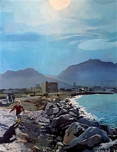 """La Pointe Rouge à Marseille Acrylic on Canvas 35.5"""" x 31.5"""""""