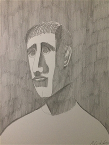 "Portrait drawing 26 Graphite 14"" x 11"""