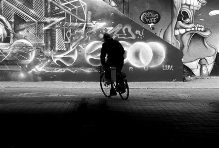 "Graffiti Tunnel Archival Pigment Print 20"" x 27.5"""
