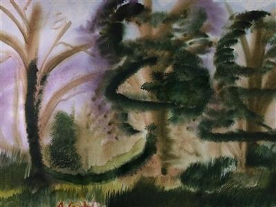 "Oak tree forest A Watercolor on Paper 18"" x 24"""