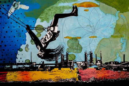 """On Top of the World Acrylic on Canvas 33.5"""" x 51"""""""