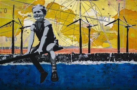 "Bright Acrylic on Canvas 33.5"" x 51"""
