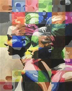 "Sisters Acrylic on Canvas 39.5"" x 31.5"""