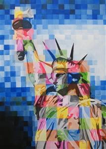 "Freedom Acrylic on Canvas 39.5"" x 27.5"""