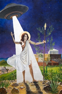 The Goddess Athena Turns Her Spear into An Olive Tree"