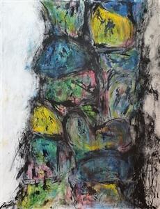 "Covid-19 Isles Acrylic on Canvas 45.98"" x 35.83"""