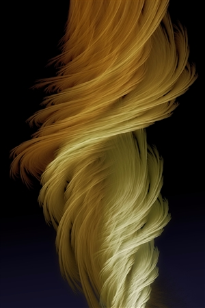 GK AUSTIN II - Renée No.1 Fractal Flame on While Aluminum, Digital Art