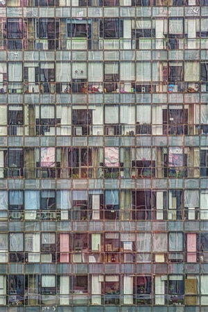 Tom Stahl - Out my Beijing hotel window #1: Office building Digital on Metal, Photography