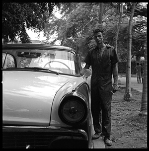 Elizabeth Flinsch - Octavio and his Car Silver Gelatin Print, Photography