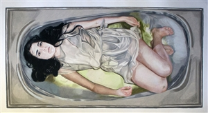 Veronica Constable - My Ophelia Colored Pencils on Paper, Drawings