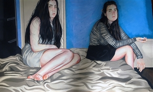 Veronica Constable - Sisters Colored Pencils on Paper, Drawings