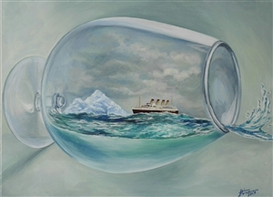 Helena Zyryanova - Last Cruise Oil on Canvas, Paintings