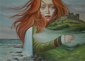 Helena Zyryanova - Irish Tale Oil on Canvas, Paintings