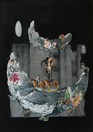 Renuka Sondhi Gulati - The Living Ark-4 Oil on Canvas, Paintings