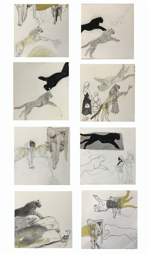 Renuka Sondhi Gulati - The Power Play Pencil on Paper, Drawings