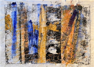 Mariela Soldano - Bricks Acrylic & Mixed Media on Canvas, Mixed Media