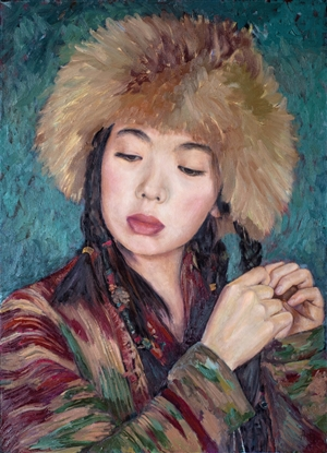 Aigerim Bektayeva - Aruka Oil on Canvas, Paintings
